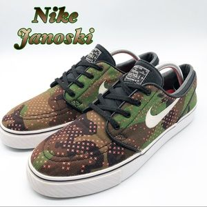 Nike Janoski Camo with Pink Sneaker Men's 10